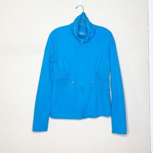Zella Blue Full Zip Jacket Medium
